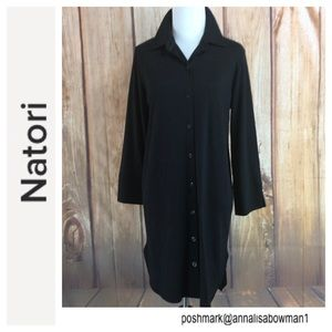 💸Natori Black Night Shirt size Medium